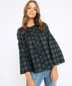Claudine Shirt Check Grey