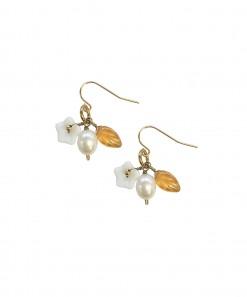 LeSal Earrings White Flower