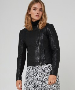 Jonah Leather Jacket Black