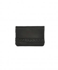 Lilou Leather Wallet Black