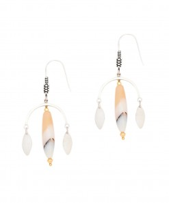 Moon Drop Earrings Gemstone