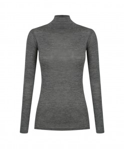 Morri Wool High Neck Charcoal