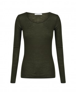 Morri Wool Scoop Neck Olive