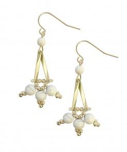 Rila Earrings Gold White