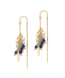 Spanish Dancer Earrings Indigo