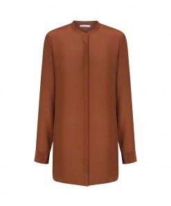Nicolette Silk Shirt Rust