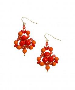 Sandia Earrings Orange