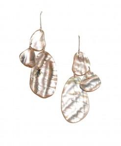 Skimming Stone Earrings Shell