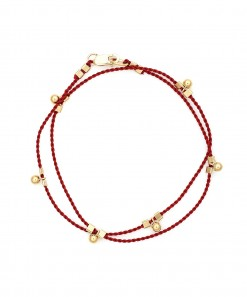 Wrap Cord Bracelet Red